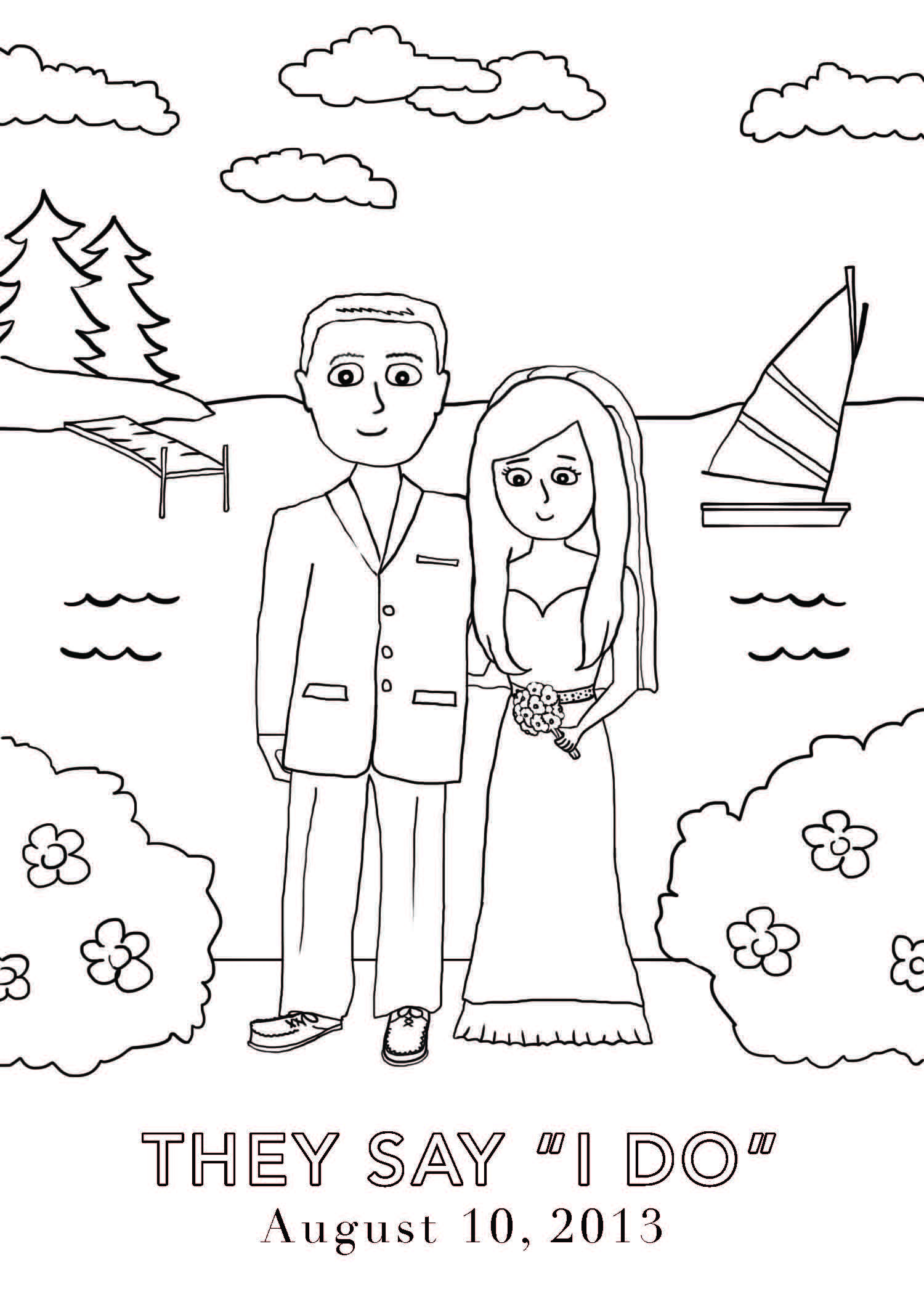 Coloring book wedding pictures - Gerten Coloring Book